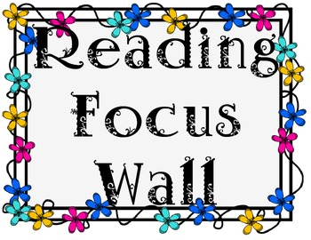 Reading Focus Wall - Blooming Flowers
