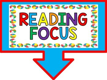 Reading Focus Wall Bulletin Set ~ BEACH Themed
