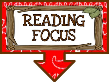 Reading Focus Wall Bulletin Set ~ CAMPING Themed