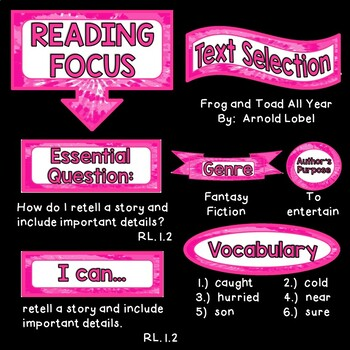 Reading Focus Wall Bulletin Set ~ GROOVY TIE-DYE PINK Themed