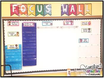 Reading Focus Wall Bundle! Focus Wall Banner