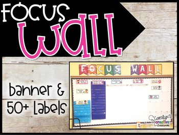 Reading Focus Wall Bundle! Focus Wall Banner