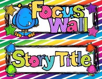 Reading Focus Wall Headers (Monster Theme) with READING banners