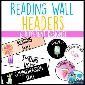 Reading Focus Wall Headers - Tropical Themed