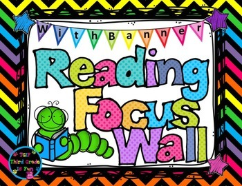 Reading Focus Wall Headers (bright chevron) with banners T
