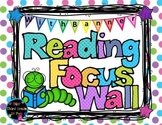 Reading Focus Wall Headers (pastel polka dots) with banners Third Grade