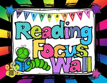 Reading Focus Wall Headers (stars/bright colors) with banners Third Grade