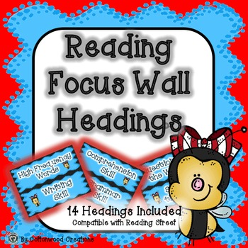 Reading Focus Wall Headings