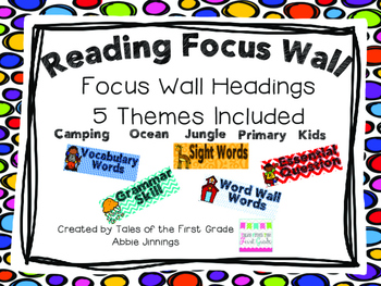 Reading Focus Wall Labels