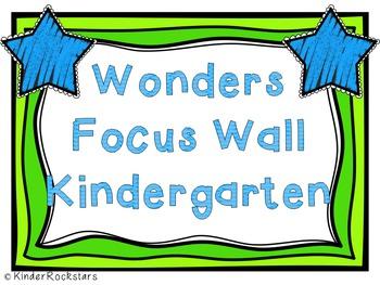 Reading Focus Wall - Wonders Aligned