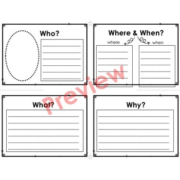 Reading Foldables for Informational Text: Easy to Make - 3 Folds & 2 Snips!