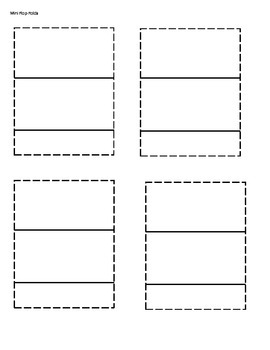 Reading Foldables for K-2