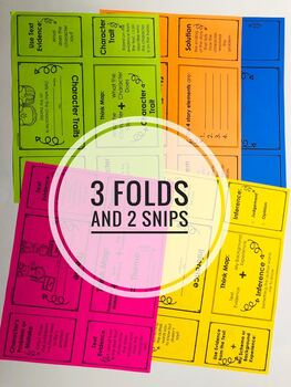 Reading Foldables for Literary Text: Easy to Make - 3 Folds & 2 Snips!