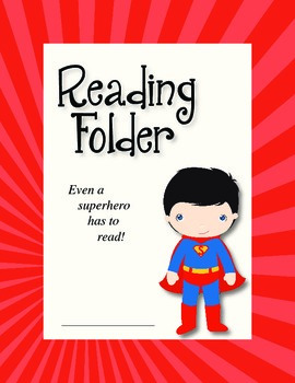 Reading Folder - Superman & Wonder Woman