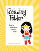 Reading Folder - Superman & Wonder Woman