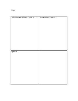 Reading Folktale Stop and Jot Lesson Plan/The Talking Eggs/TC Format