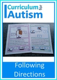 Reading Following Directions Mats Autism Language Task Box
