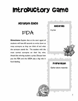 Reading Food Labels - 5 Day Unit