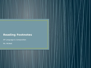 Reading Footnotes PowerPoint