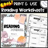 Reading For Comprehension Worksheets {Reading Log}