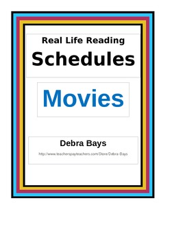 Reading For Life:  Movie Schedule