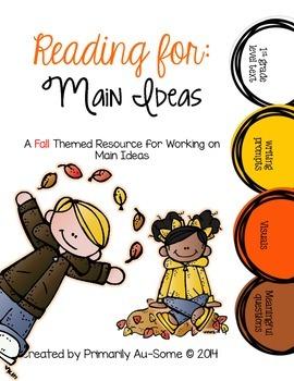 Reading For: Main Ideas Fall Edition