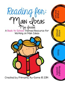 Reading For: Main Ideas Freebie!
