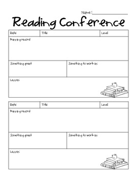 conference sheet for teachers