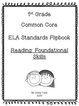 1st Grade ELA Common Core Standards Flipbook: RF