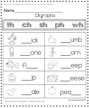 Reading: Foundational Skills Worksheets/Activities - First Grade ...