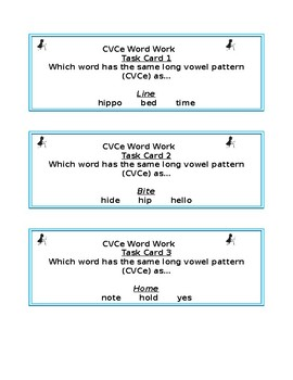 Reading Foundations CVCe Task Cards