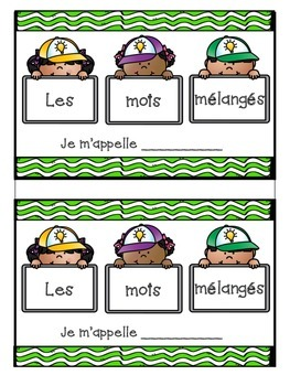 French Writing - Scrambled Sentences- Phrase Melees