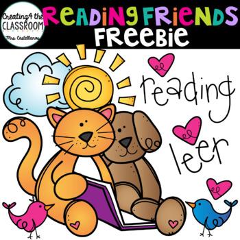 Reading Friends Clip Art Freebie {Reading Clip Art}