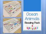 Ocean Animals Reading Comprehension Fun - Kindergarten
