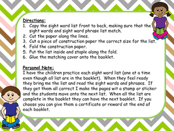 Reading Fun with Dolch Sight Words and Phrases