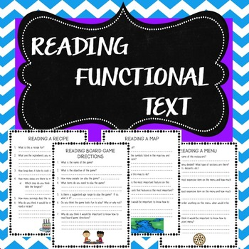 Reading Functional Text Practice