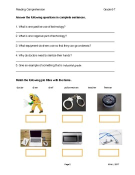 Reading G6-7 Lesson 2 Technology: Professional Tools