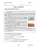 Reading G6-7 Lesson 3: Social Studies - Wonders