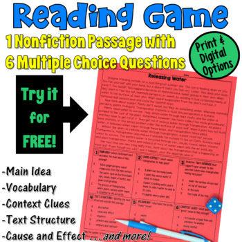 Reading Game FREEBIE {Perfect for Test Prep!}
