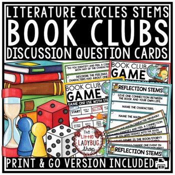 Reading Response Stems & Reading Game- Book Club Activities & Literature Circles