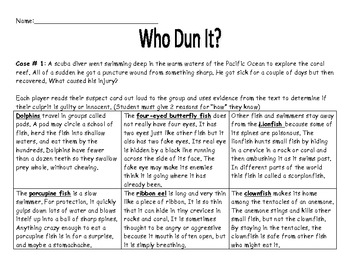 "Reading Game ""Who Dun It?"""