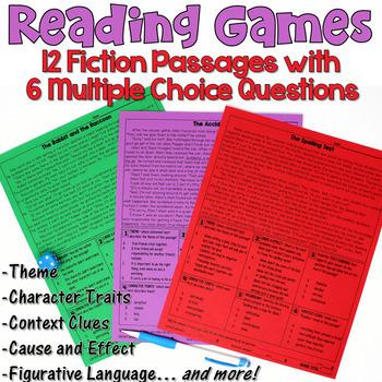 Reading Games: 12 Fiction Passages