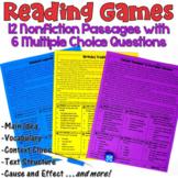 Reading Games: 12 Nonfiction Passages