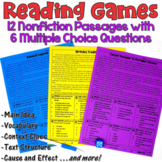 Reading Games: 12 Nonfiction Passages
