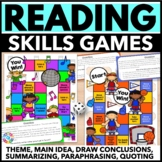*Reading Games for Reading Centers (Theme, Main Idea, Summarizing, & More!)