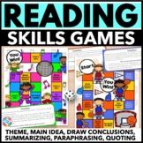 Reading Games for Reading Centers (Theme, Main Idea, Summarizing, & More!)