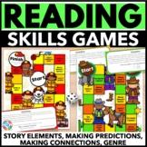 Reading Comprehension Passages & Questions {Genre, Story Elements, Predictions}