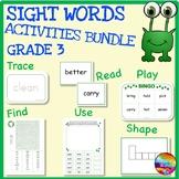 SIGHT WORDS BUNDLE GRADE 3 Activities and Word Work