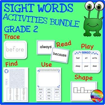 SIGHT WORDS Activities BUNDLE LEVEL 2 Reading Games, Flash