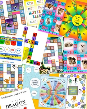 Reading Games Bundle for Orton Gillingham and Phonics Based Programs